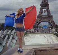 Nữ diễn viên phim cấp ba khỏa thân dự đoán Pháp vô địch Euro 2016