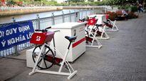 TP.HCM: Người dân cùng 'đạp xe lọc nước' bảo vệ môi trường