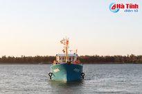 Tàu vỏ thép đầu tiên ở Hà Tĩnh đánh bắt trở về
