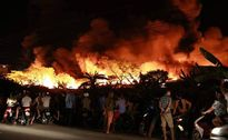 Khu công nghiệp Hải Phòng chìm trong biển lửa