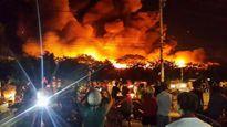 Cháy lớn tại cụm công nghiệp ở Hải Phòng, lửa bao trùm cả góc trời
