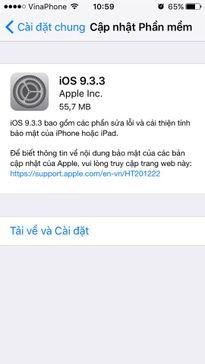 Hãy nhanh chóng cập nhật iOS 9.3.3 nếu bạn không muốn gặp lỗi nghiêm trọng