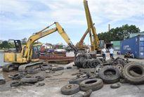 Chính phủ cho tái xuất lốp ô tô đã qua sử dụng qua lối mở Nà Lạn, Cao Bằng