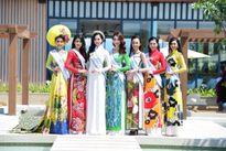 Hoa hậu Bản sắc Việt toàn cầu: Thí sinh ngoại khoe eo thon với áo dài