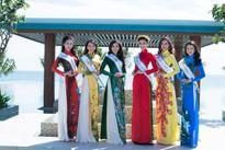 Hoa hậu Bản sắc Việt: Thí sinh ngoại quốc tự tin khoe dáng với áo dài Việt