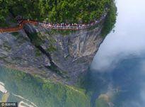 """'Vừa đi vừa run' trên con đường đáy kính """"nguy hiểm"""" nhất Trung Quốc"""