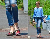 Cách mix giày bệt gây bất ngờ của sao mặc đẹp nhất Hollywood