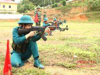 Bộ CHQS Nghệ An đạt giải nhất hội thao bắn súng quân dụng