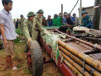 Phó Thủ tướng Vũ Đức Đam kéo bè, giúp dân chống bão