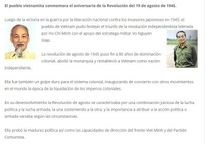 Truyền thông Argentina đưa đậm nét về ý nghĩa Cách mạng tháng Tám