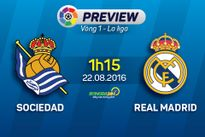 Sociedad vs Real Madrid (1h15 ngày 22/8): Barca gọi, Los Blancos có trả lời?