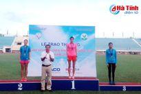 Hà Tĩnh giành 10 huy chương tại Giải Điền kinh trẻ quốc gia