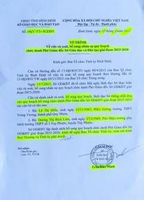'Tín hiệu lạ' rất 'Đúng quy trình' bổ nhiệm Phó Giám đốc Sở GD & ĐT Bình Định (bài 2)