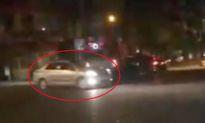 Ba ôtô 'trổ tài' drift trượt bánh, tông móp taxi
