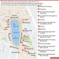 Cấm xe lưu thông dịp cuối tuần trên 15 tuyến phố từ 1/9