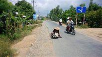 Nguy cơ tai nạn giao thông từ người ăn xin khuyết tật