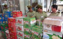 Tịch thu hàng loạt thùng trái cây ghi chữ Trung Quốc, Thái Lan tại chợ