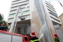 Diễn tập chữa cháy tại tòa nhà Keangnam