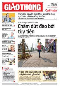 Báo Giao thông 16/9: Hà Nội lát vỉa hè, người hùng sau 'bão'
