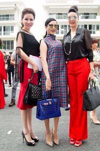 Hoa hậu Quý bà Bùi Thị Hà nổi bật với với tông đen - đỏ
