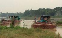 Thanh Hóa: 'Cát tặc' hút trộm hàng chục m3 cát trên sông Lạch Trường