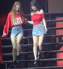 Ngã sưng cổ chân, Jiyeon vẫn cố biểu diễn trong concert T-ara
