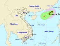 Bão số 6 sẽ suy yếu thành áp thấp nhiệt đới