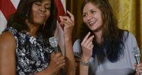 Hình ảnh đệ nhất phu nhân Mỹ Michelle Obama ấn tượng và thân thiện