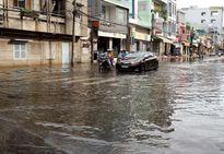 An Giang: Nhiều tuyến đường nội ô thành phố Long Xuyên bị ngập