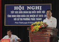 Bộ trưởng Đinh Tiến Dũng tiếp xúc cử tri phường Phúc Thành, TP. Ninh Bình