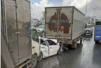 Tai nạn liên hoàn khiến đường vành đai 3 trên cao ùn tắc kéo dài