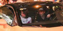 Hạ Vi được bạn trai Cường Đô la đưa đón bằng siêu xe