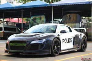 """Siêu xe Audi R8 """"khoác áo cảnh sát Mỹ"""" của dân chơi Việt"""