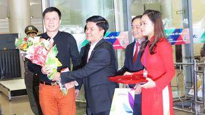 Đà Nẵng đón chuyến bay quốc tế đầu tiên 'xông đất'