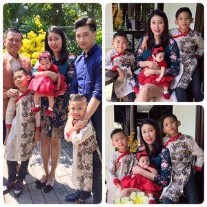 Vợ chồng Hà Kiều Anh lần đầu chụp ảnh đủ mặt các con