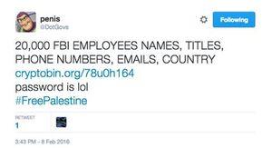 Mỹ: Hacker công khai dữ liệu của hơn 20.000 nhân viên FBI