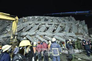 Số nạn nhân thiệt mạng trong vụ động đất Đài Loan lên tới 89 người