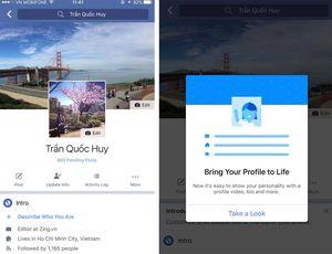 Facebook đổi ảnh đại diện chính giữa trên di động