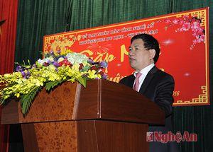 Bí thư Tỉnh ủy gặp mặt đầu năm cán bộ, giảng viên Trường cao đẳng nghề du lịch - thương mại Nghệ An