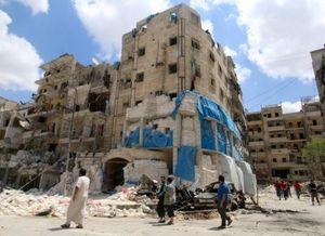 Hiện trường bệnh viện Aleppo bị nã tên lửa gây thương vong lớn