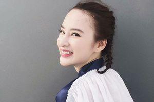 Angela Phương Trinh trẻ trung đúng tuổi với tóc tết hai bên