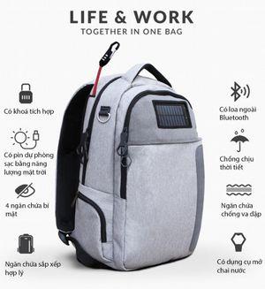 [Indiegogo] Lifepack - balo có khóa chống trộm, pin năng lượng mặt trời, loa bluetooth,...