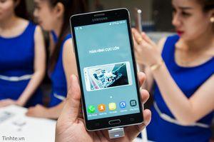 """Samsung ra mắt Galaxy On7 màn hình 5,5"""", mặt lưng giả da, chỉ bán online qua FPT, giá 3tr990"""