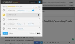 Cách gửi email tự hủy trong Gmail