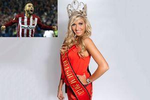 Cận cảnh vẻ đẹp bạn gái Hoa hậu của 'sao' Atletico Madrid