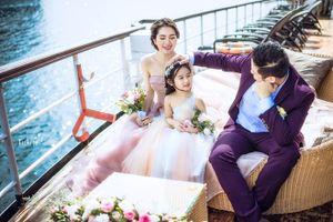Ảnh gia đình Minh Tiệp kỷ niệm 5 năm ngày tuyệt đẹp ở Hạ Long
