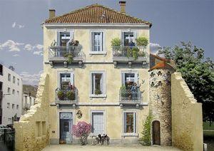 Chán ngán với các bức tường xám xịt, họa sĩ này đã tạo ra cả một thành phố nghệ thuật