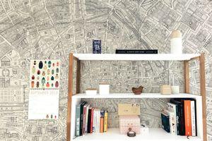 Thử trang trí tường nhà bằng bản đồ cực độc