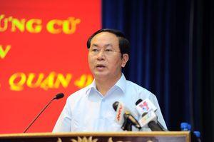 Giới thiệu ông Trần Đại Quang để bầu làm Chủ tịch nước
