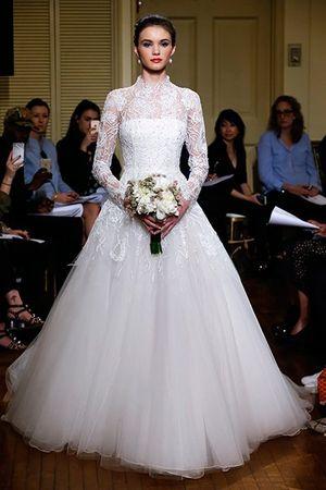 1001 mẫu váy cưới cao cổ cách tân cho cô dâu cổ điển